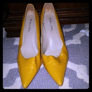 🚨🚨Black Friday Sale patent leather mustard pumps